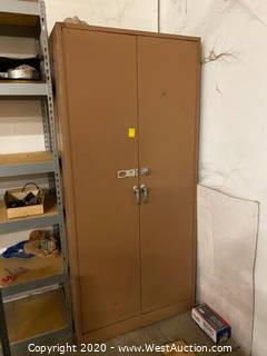Metal Locking Storage Cabinet 6.5'