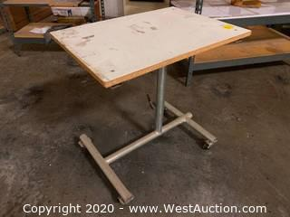 "Rolling Adjustable 20""x28"" Table"