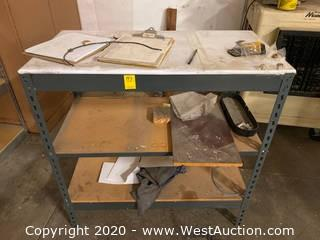 "Metal Table 36""x18""x36""  with 2 Undershelves"
