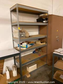 7' Metal Shelving Unit