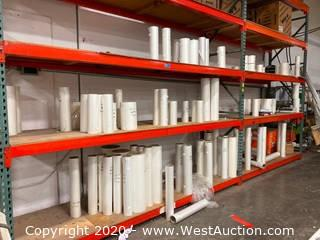 Contents Of Pallet Racking; Plastic Rolls, Spiral Binding, And More