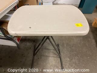 "Plastic Folding Table 18""x26"""