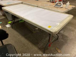 "Plastic Folding Table 72""x30"""