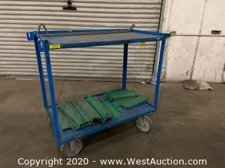 2 Level Metal Pushcart And Contents