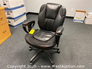 Black Leather Managers Chair ZL3006-01MCU