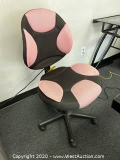 Contemporary Desk Chair with Pink