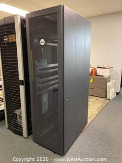 Dell Server Rack With Hard Drive Networking Unit