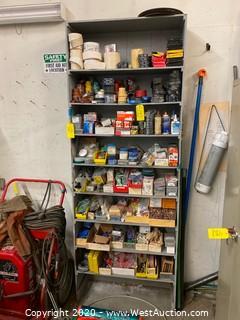 Wooden 8' Shelf Unit (No Contents)