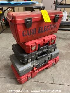 (5) Empty Plastic Tool Cases