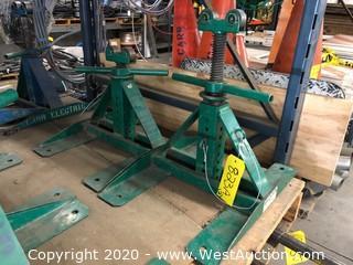 (2) Greenlee Adjustable Reel Stands