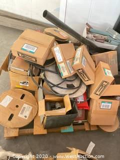Pallet of Electrical Components, Shrink Tubing, and Insulating Material