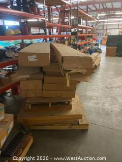 Pallet of LED and Fluorescent Lighting Fixtures