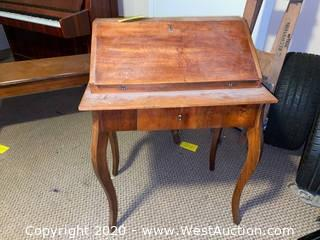 Vintage Wood Writing Desk