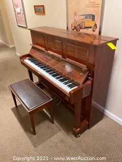 Samick Upright Piano with Bench
