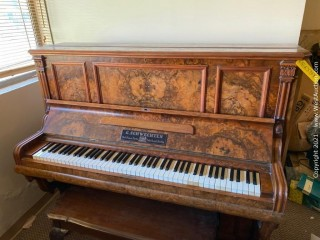 1882 Georg Schwechten Upright Piano