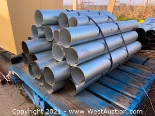 "Bundle of Assorted 1/8"" Steel Conduit Pipe"