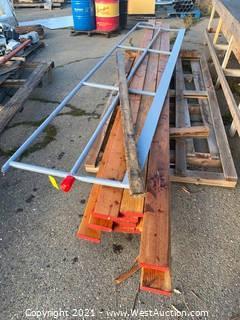 Pallet of Lumber & Ramp Railing