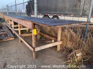 22' Wooden Work Bench