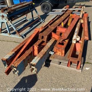 3-Column Cantilever Rack - Disassembled