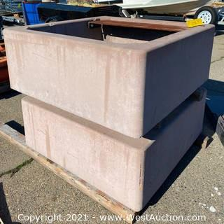 (2) 4' x 4' Cement Fire Pits