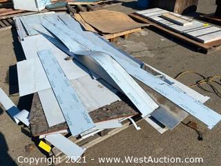 Pallet of Assorted Alpolic Composite Aluminum Panels
