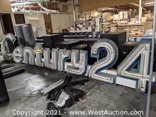 Century 24 Neon Sign