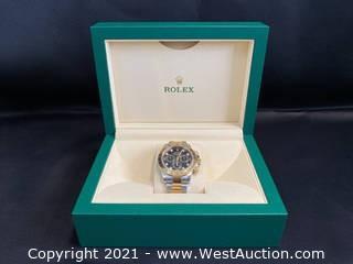 Rolex Cosmograph Daytona Black Diamond Dial Steel 18K Yellow Gold Men's Watch 116503