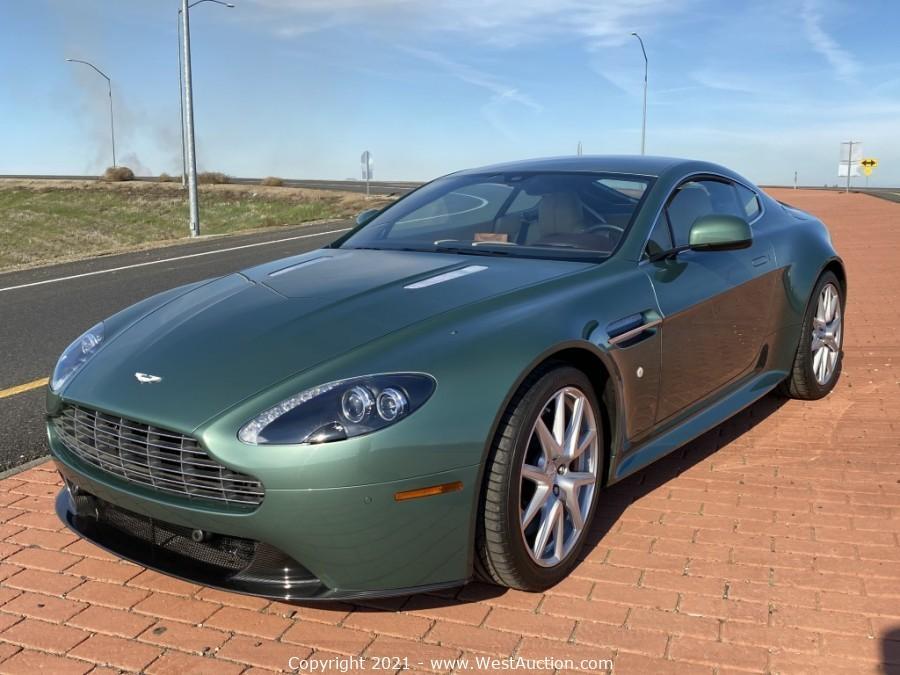 Online Bankruptcy Auction of 2013 Aston Martin V8 Vantage Coupe