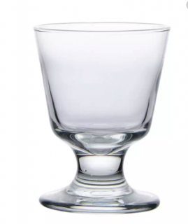 (1) Boxes Of (5.5) oz Footed Rocks Glasses  (3746)