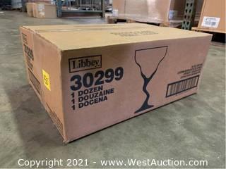 (2) Boxes Of (12) oz Z-Stem Margarita Glasses  (30299)