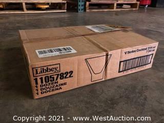 (1) Boxes Of (12) 7.6 oz V Cocktail Glasses  (11057822)