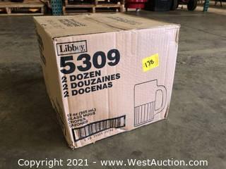 (1) Boxes Of (24) 12 oz Glass Mugs  (5309)
