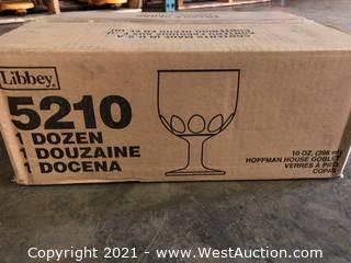 (1) Boxes Of (12) 10 oz Hoffman House Goblets  (5210)