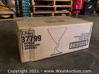 (1) Boxes Of (12) 9.25 Oz Z-stem Martini Glasses  (37799)