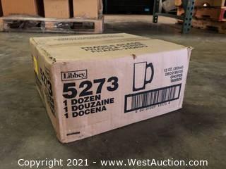 (1) Boxes Of (12) 12 oz Deco Mugs  (5273)