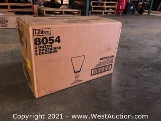 (1) Boxes Of (36) 6 oz Irish Coffee Glasses  (8054)