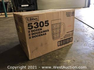 (1) Boxes Of (24) 11.5 oz Vienna Stein Glasses  (5305)