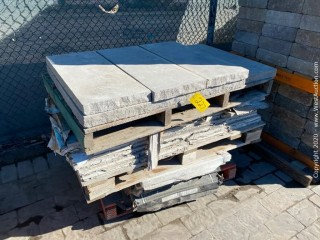 (3) Pallets Of Assorted Stone Pavers