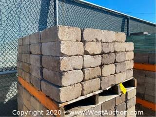 "(1) Pallet Of Stone Pavers 12"" x 8"" x 4"""