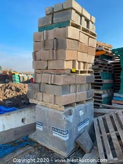 (4) Pallets Of Retaining Wall Blocks