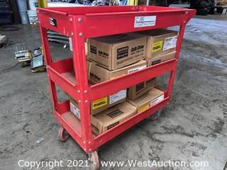 "30"" Metal Push Cart & Assorted QuikDrive Screws"