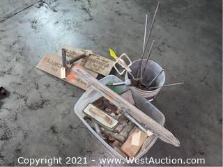 Bulk Lot: Bucket & Bin of Cement Tools