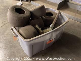Bucket Of Go-Kart Tires