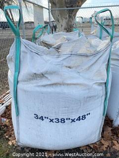 "(1) Bag of Rubber Sand Crumb Blend 34"" x 38"" x 48"""