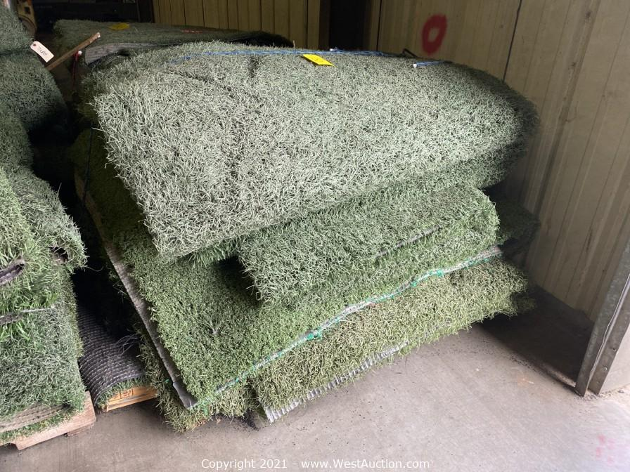 Online Auction of Commercial Grade Artificial Grass Turf and Rubber Crumb/Sand Mixture