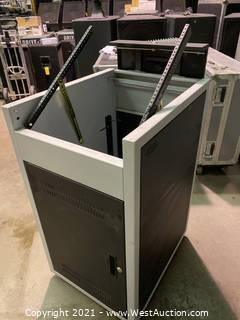 Rolling Steel Mixer Rack with AB Systems Amplifier