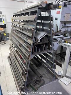 A-Frame Rack with Brake Press Dies