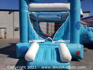 Blue Dog Belly Bounce House
