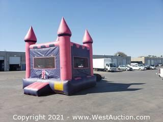 Pink and Purple Castle Bounce House