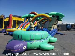 Inflatable Dual Lane Tropical Slip and Slide